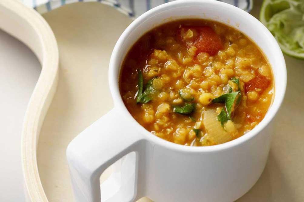 Recetas saludables de cuchara: India