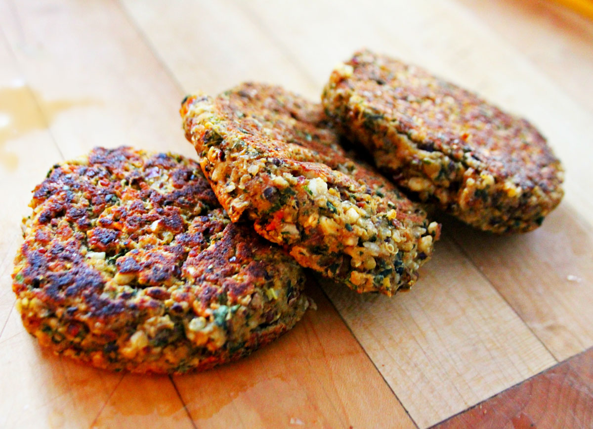 hamburguesas veganas quinoa