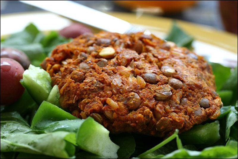 hamburguesas veganas lentejas