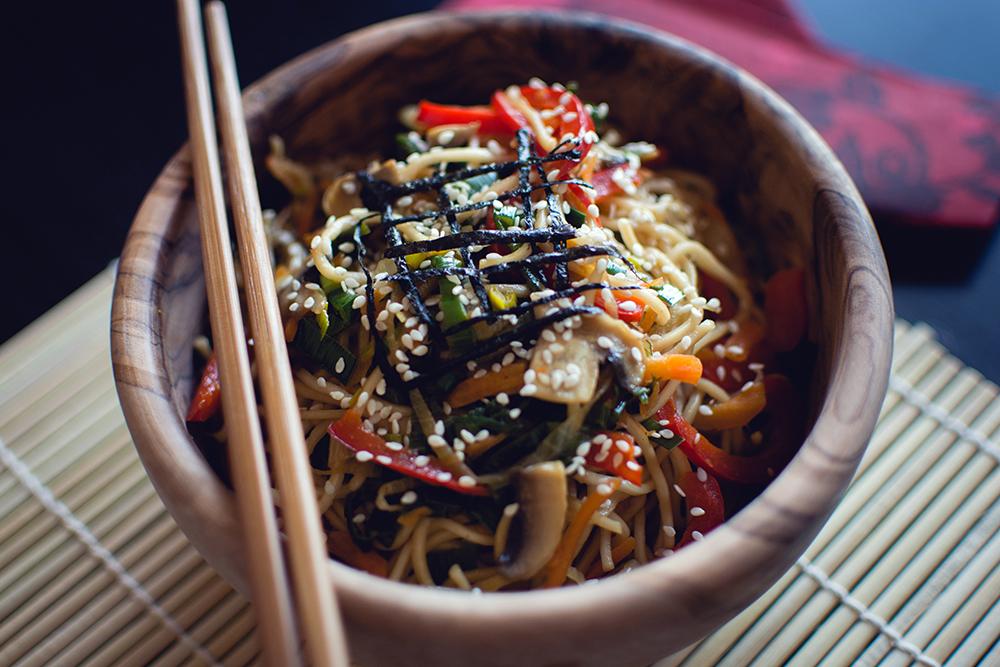 recetas de pasta para adelgazar: noodles sarraceno