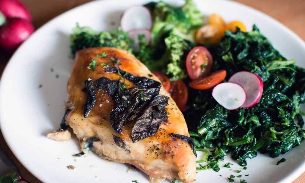 Plato saludable para recuperar peso.