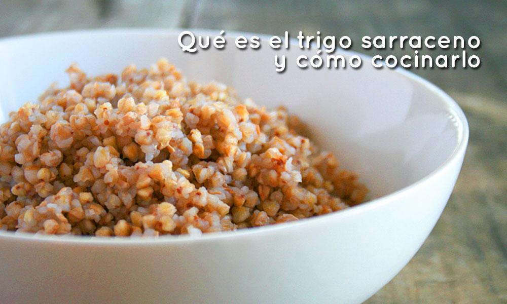 Grano de trigo sarraceno cocido